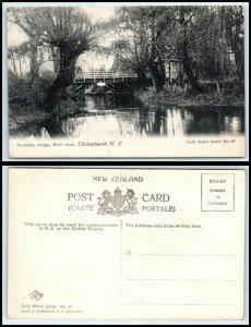 NEW ZEALAND Postcard - Christchurch, Fendalton Bridge, River Avon AH