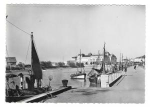 France Trouville Fishing Boats Harbor La Cigogne Glossy Photo 4X6 Postcard