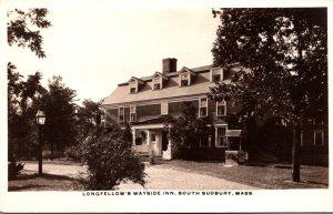 Massachusetts South Sudbury Longfellow's Wayside Inn Real Photo