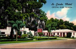 Florida Crystal River Le Carda Motel 1958
