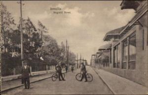 Ismailia Egypt Negrelli Street - Bicycles c1910 Postcard