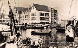 Curacao NWI Harbor View Real Photo Antique Postcard J79069