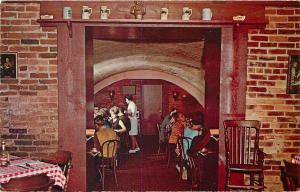 South Amana Iowa~Brau 'n Brat Haus Restaurant Dining Room~Beermugs 1971 Postcard