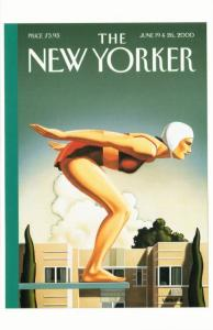 Poised by R. Kenton Nelson Diver on 2000 The New Yorker Magazine Postcard