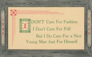 LEAP YEAR, 1900-10s; Notices - I DON'T Care For Fashion I Don't Care For ...