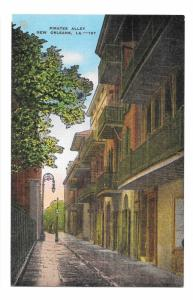 Pirates Alley New Orleans LA Vintage Linen Postcard EC Kropp