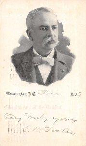 Washington DC Man's Portrait Politician 1907 Greetings Vintage Postcard AA16386