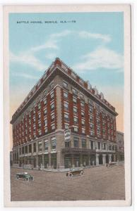 Battle House Mobile Alabama 1920s postcard