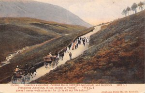 Coaches descending Dunmail Raise between Ambleside and Keswick Stagecoach Unu...