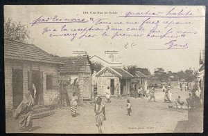 Mint French Senegal Real Picture Postcard RPPC Street View In Dakar