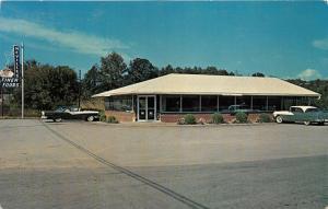 Park City Kentucky~Neville's Finer Foods Restaurant~Classic 50s Cars~Postcard