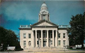 Bucyrus Ohio~Crawford County Court House~1960s Postcard
