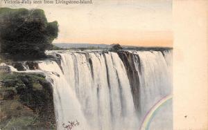 Zambia Zimbabwe Victoria Falls seen from Livingstone-Island 1907