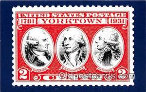 Rochambeau, Washington, Degrasse Yorktown Postcard Post Card Yorktown Rochamb...