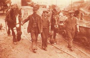 Nostalgia Postcard 1915 Coal Strike, Welsh Miners back to Work Repro Card NS18