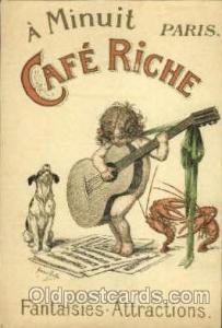 Café Riche Advertising Postcard Post Card  Café Riche