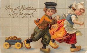 Happy Birthday Post Card Old Vintage Antique International Art Publishing Wri...