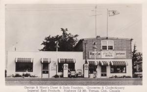 RP: George & Mary's Diner & IMPERIAL ESSO Gas Station, MT VERNON, Ontario, 30-40