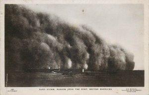 SUDAN SOUDAN Sand storm haboob over the Fort british Barracks photo postcard
