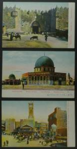 Jerusalem group of 3 postcards circa 1910
