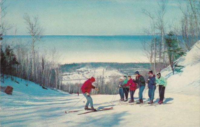 Skiers At Georgian Peaks Ontario Canada