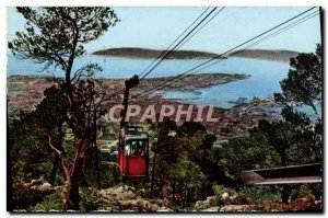 Modern Postcard Toulon Vue Generale over the bay and the Telepherique