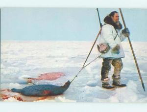 Unused Pre-1980 ESKIMO SEAL HUNTING state of Alaska hn2572