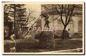 Old Postcard Montargis Dog Fight Statue