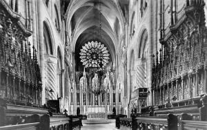 Durham Cathedral The Choir, Raphael Tuck's Real Photograph