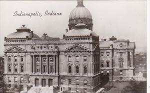 Indiana Indianapolis State Capitol Building Real Photo