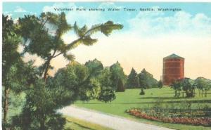 Volunteer Park showing Water Tower, Seattle Washington, e...