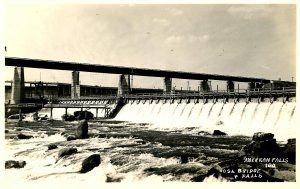 ID - American Falls. OSA Bridge and Falls, 1934. *RPPC