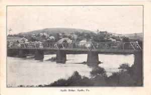 D65/ Apollo Pennsylvania Pa Postcard 1912 Apollo Bridge River