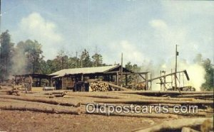 Southern Sawmill  Postcard Post Cards Old Vintage Antique Unused
