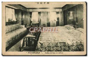 Old Postcard Boat Ship SGTM Florida Luxury cabin has two seats