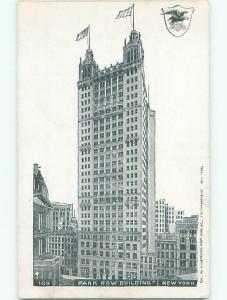 Unused Pre-1907 PARK ROW BUILDING Manhattan New York NY Q1612