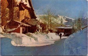 Sun Valley ID Challenger Inn Hotel Postcard used 1954