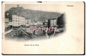 Old Postcard Vienna docks of Geve