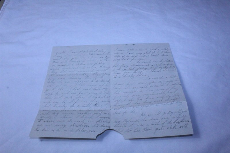 Vintage Hand Written 4 Page Letter 1873 Embossed on Letter Head