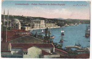 Turkey; Constantinople,Dolma Bagtche Imperial Palace PPC, Shows Shipping In Bay