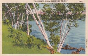 Michigan Greetings From Memphis 1940 Curteich