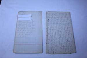 Vintage Hand Written Will 1860-1880 Multi Page