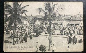 Mint Senegal Real Picture Postcard RPPC St Louis Market View