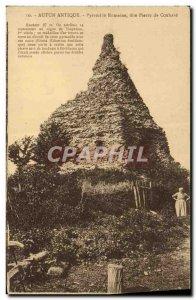 Old Postcard Autun Ancient Pyramid Roman said Peter Couhard