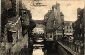 CPA QUIMPER - Tourelle et Vieilles Maisons sur le Steir (457413)