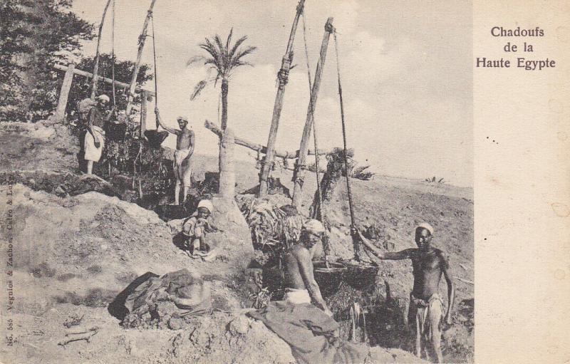 EGYPT, 00-10s; Egyptian Farmers working the Cahdouf de la Haute Egypte