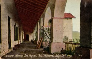 California Mission San Miguel Corridor Founded 25 July 1797