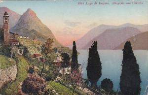 Switzerland Lugano Albogasio con Castello 1943