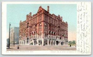 Minneapolis Minnesota~West Hotel & Street Scene~1912 Postcard
