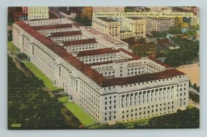 Department of Commerce Air View National Government Washington D.C. Postcard